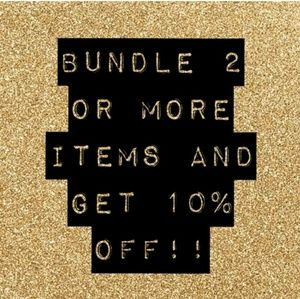 Make your Own Bundle of 2+ items.  Get 10% off!